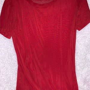 *never worn* Allchic Med see through red tshirt